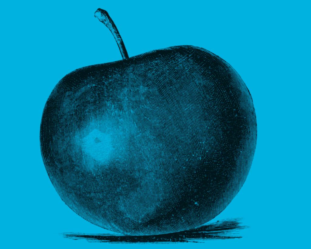 Bild på äpple